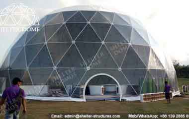 Shelter Dome Tents - Geodesic Dome - Geodesic Dome Tent for Sale - Large Dome - Event Dome - Half Clear Dome - Dome Construction - 15-20m Dome - Shelter Dome (2)