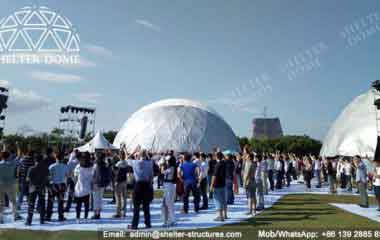 Geodesic Structure - Geodesic Dome - Geodesic Dome Tent for Sale - Large Dome - Event Dome - Half Clear Dome - Dome Construction - 15-20m Dome - Shelter Dome (5)