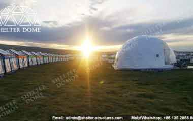 Geodesic Dome Home - Geodesic Dome - Geodesic Dome Tent - Dome Tent for Sale - Ecodome - Eco Living Dome - Fabric Dome Structures - Steel Frame Dome - Half Clear Dome - 10m Dome - Shelter Dome (1)