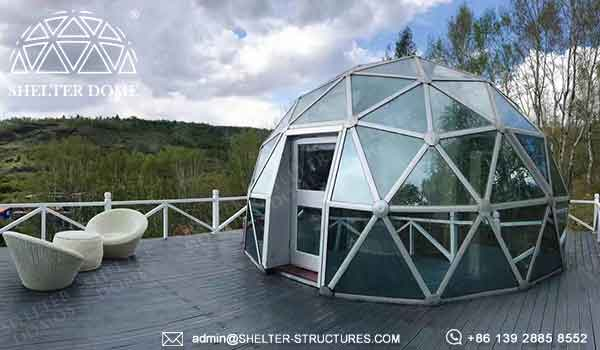 Glass Dome House For Lounge Geodesic Garden Dome