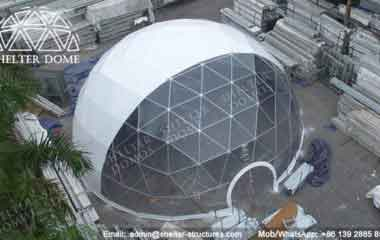 Steel Frame Dome - Geodesic Dome - Geodesic Dome Tent - Geodesic Dome House - Half Clear Dome - Geodesic Dome Construction - Fabric Dome - Geodesic Domes for Sale - 15m Dome - Shelter Dome (3)