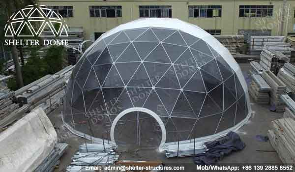Half Clear Steel Frame Dome Corporate Event Dome