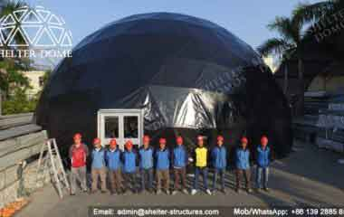Black Dome Tent - Geodesic Dome - Geodesic Dome Tent - The Dome - Black Dome - Event Dome - Fabric Dome - Dome Tent for Sale - Geodesic Sphere - 18m Dome - Shelter Dome (6)