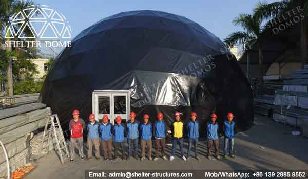 Strong Black Dome Tent For Outdoor Event Frame Dome