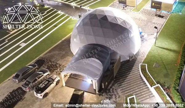 Dome Malaysia - Geodesic Dome - Geodesic Dome Tent - Geodesic Structure - Geodesic Dome Construction - Fabric Dome - PVC Dome - Catering Dome - 15m Dome - Shelter Dome (1)