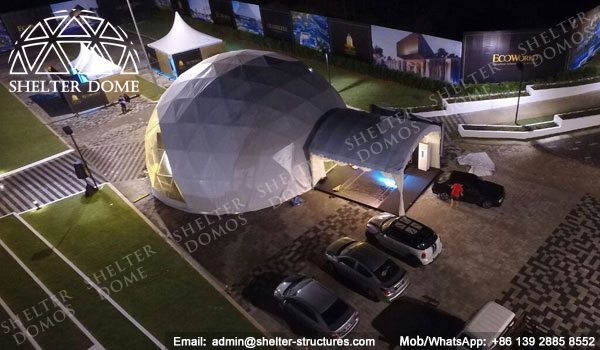 Dome Malaysia - Geodesic Dome - Geodesic Dome Tent - Geodesic Structure - Geodesic Dome Construction - Fabric Dome - PVC Dome - Catering Dome - 15m Dome - Shelter Dome (6)