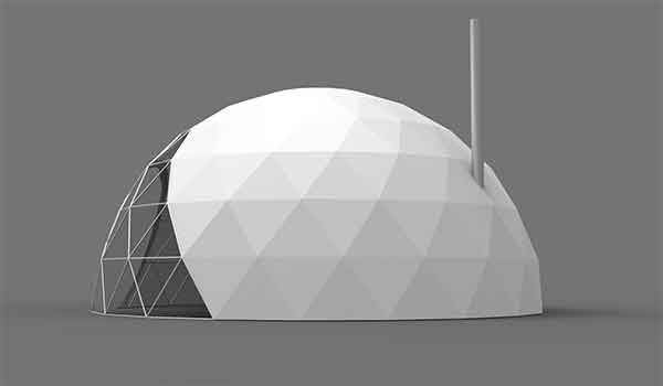 Eco Living Dome - Geodesic Dome Ventilation - Shelter Dome (3)