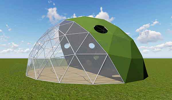 Eco Living Dome - Geodesic Dome with Bay Windows - Shelter Dome