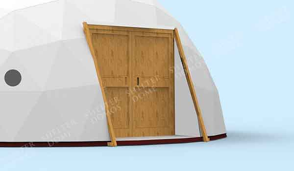 Eco Living Dome - Geodesic Dome with Glass or Aluminum Door - Shelter Dome