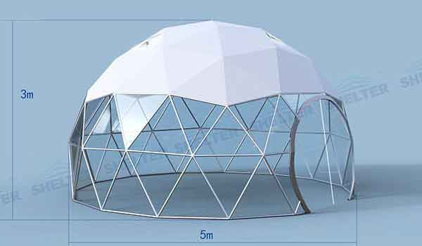 Eco Living Dome - Geodesic Dome with Panoramic View Windows - Shelter Dome