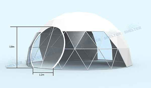 Eco Living Dome - Geodesic Dome with Windows of Any Demanding Shape - Shelter Dome
