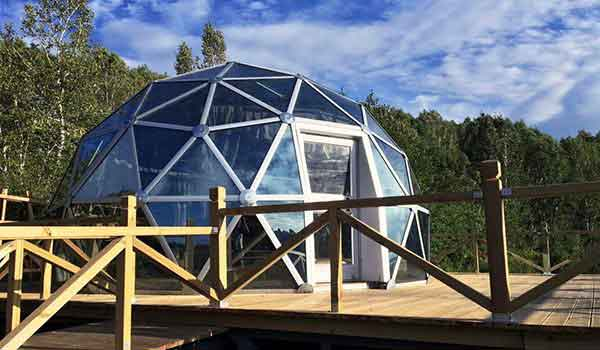 Eco Living Dome - Glass Geodesic Dome Structure - Shelter Dome