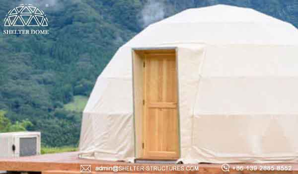 Eco living dome accessories - glamping dome house for sale -2