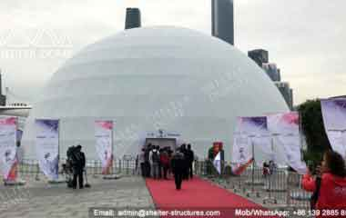 Dome Projection Mapping - Geodesic Dome - Geodesic Dome Tent - Event Dome - Projection Dome - Portable Dome Tent - Big Dome Tent - Dome Tent for Sale - Sphere Tent - 30m Dome - Shelter Dome (1)