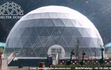 Sports Geodesic Dome - Geodesic Dome - Sport Dome - Dome for Skiing - Large Dome - 27m Dome - Dome Tents for Sale - Fabric Dome Structures - Shelter Dome (2)