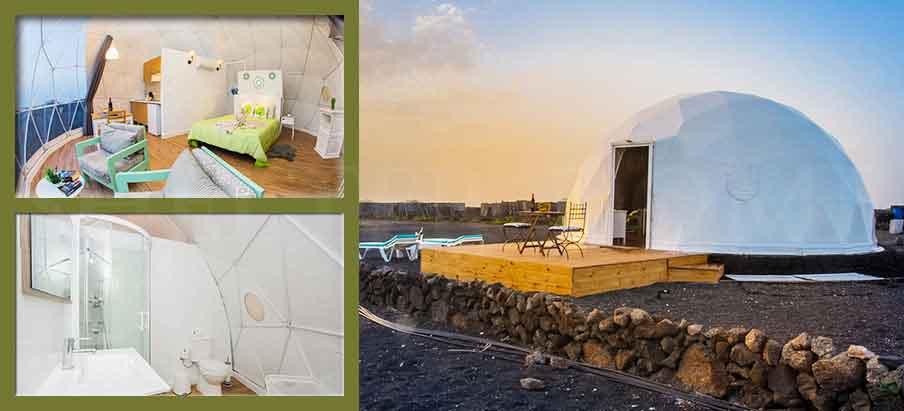 Shelter Eco Living Dome - Glamping Dome Suite with full facilities - Airbnb Dome pod design