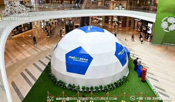 shelter eco living dome with customized pvc membrane - event dome tent for shopping mall promotion