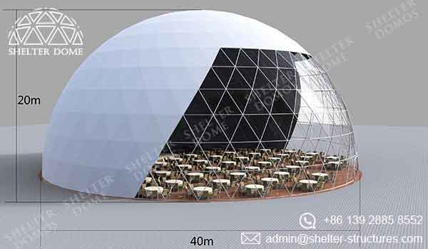 Event Domes - 40m Geodesic Domes for Events - Shelter Dome 2