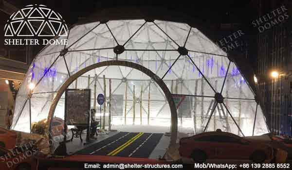 Event Domes - Geodesic Dome - Geodesic Dome Tent - Geodesic Structure - Geodesic Dome Construction - Fabric Dome - PVC Dome - Half Clear Dome Tent - 10m Dome - Shelter Dome (1)