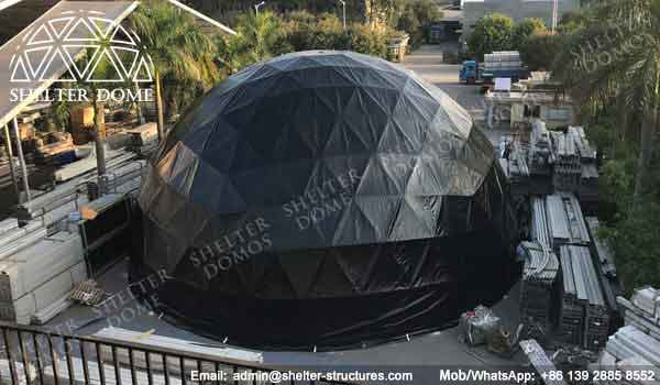 Event Domes - Geodesic Dome - Geodesic Dome Tent - The Dome - Black Dome - Event Dome - Fabric Dome - Dome Tent for Sale - Geodesic Sphere - 18m Dome - Shelter Dome (1)