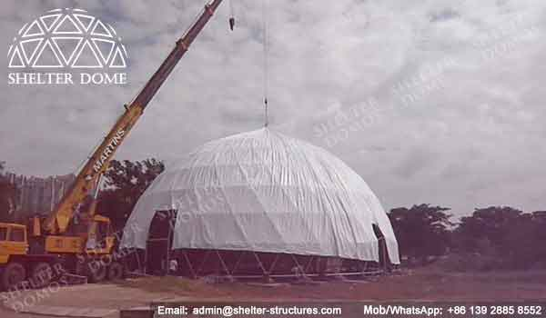 Event Domes - Geodesic Dome - Geodesic Dome Tent for Sale - Frame Dome Tent - Fabric Dome - White Dome Tent - Event Dome Tent - Portable Dome - 25m Dome - Shelter Dome (1)