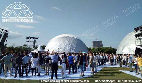 Event Domes - Geodesic Dome - Geodesic Dome Tent for Sale - Large Dome - Event Dome - Half Clear Dome - Dome Construction - 15-20m Dome - Shelter Dome (5)