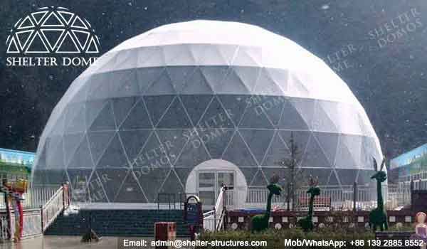 Event Domes - Geodesic Dome - Sport Dome - Dome for Skiing - Large Dome - 27m Dome - Dome Tents for Sale - Fabric Dome Structures - Shelter Dome (2)