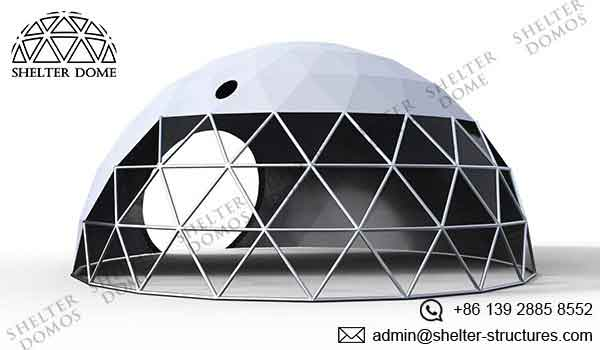 Geodesic Garden Dome - Garden Igloo - Cover with A Transparent Front - Shelter Dome