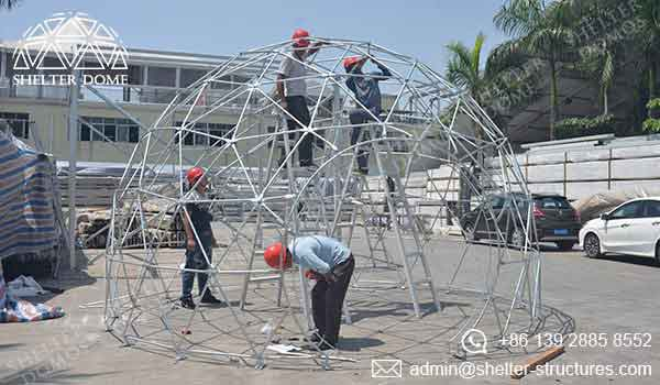 Geodesic Garden Dome - Garden Igloo with Steel Structure - Shelter Dome