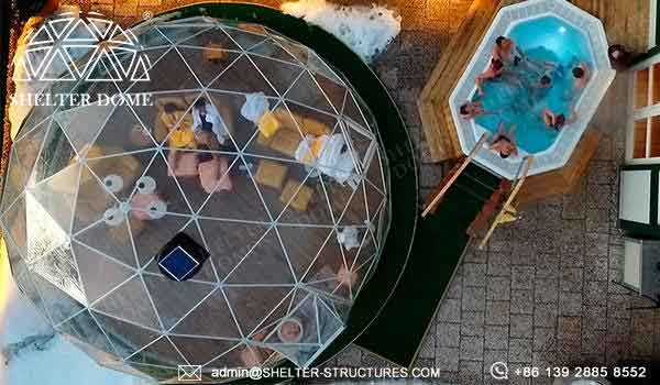 geodesic greenhouse dome in Italy-Geodome tent kits for sale- (13)
