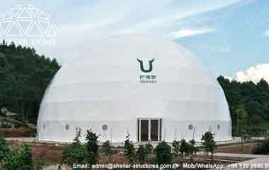 25.6m Sports Dome - Sphere Dome - Sports Domes for Sale as Badminton Court Cover - Geodesic Event Tent - Shelter Dome (13)