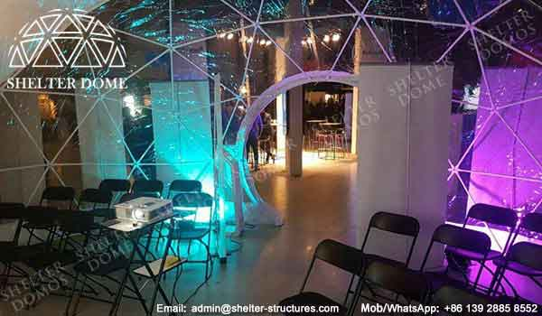 Geodesic Dome Lighting - 7m Geodesic Event Tent as Exhibition Stand - Geodesic Event Dome for Presentation - Portable Dome Structure for Event - Shelter Dome (4)