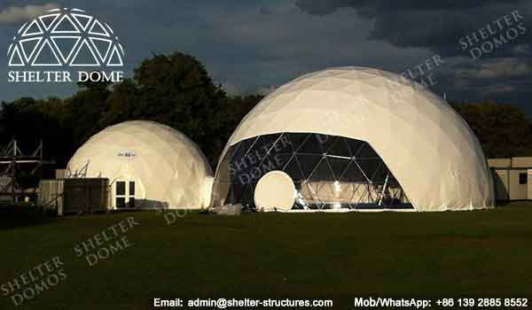 Walkways and Entrances - Geodesic Dome - Geodesic Dome Tent for Sale - Combinated Dome - Dome Tent with Tunnel - Dome with Walkway - Event Dome - Fabric Dome - Customized Dome - Shelter Dome (4)