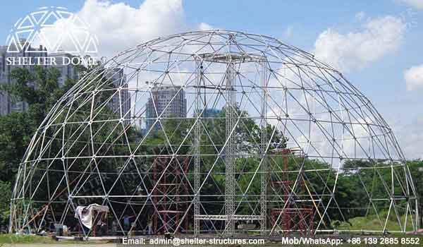 Geodesic Dome Frames - Geodesic Dome - Geodesic Dome Tent for Sale - Frame Dome Tent - Fabric Dome - White Dome Tent - Event Dome Tent - Portable Dome - 25m Dome - Shelter Dome (5)