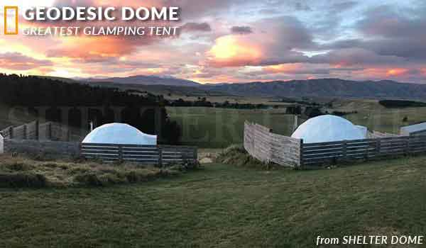6m geodesic dome for glamping resort - living dome rental airbnb booking in australia