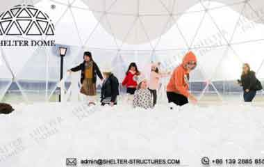 Custom Geodesic Designs for Winterfest Event - 12m Geodome Tent for Outdoor Activity, Brand Promotion, Children Playground (1)