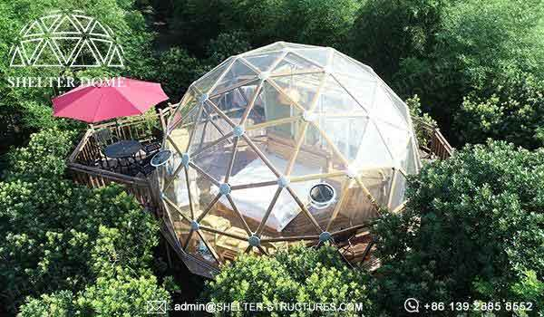 7m glass dome with custom framework for glamping living (1)