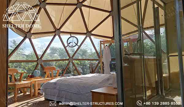 7m glass dome with custom framework for glamping living (8)