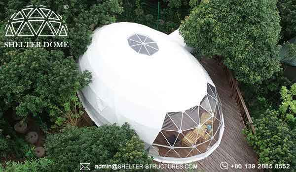 Elliptical Dome for Glamping Accommodation in Campsite, Resort - Oval Dome Suite with Bathroom -11