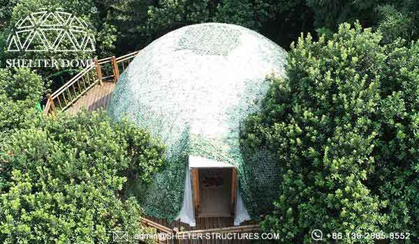 dia. 5m glamping dome for sale - eco geodome tent with bathroom facilities (7)