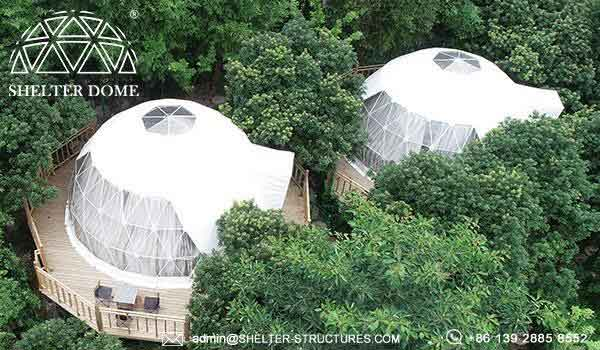 dia. 5m glamping dome for sale - eco geodome tent with bathroom facilities (9)