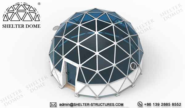 dia. 6m glass dome for 2 person glamping living - crystal dome sale for resort, campsite, hotel 2