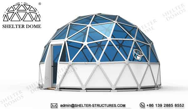 dia. 6m glass dome for 2 person glamping living - crystal dome sale for resort, campsite, hotel