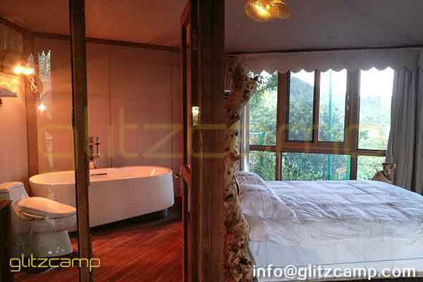 multi peaks lodge tent for sale-luxury lodge glamping in jungle resort-deluxe outdoor accommodation in glamping lodges-glitzcamp (11)