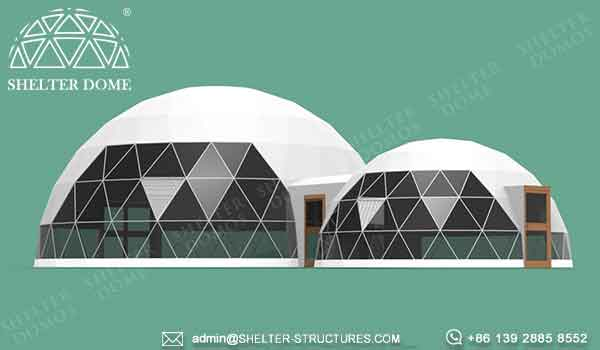 shelter dome spherical tent for sale - event dome with walkway tunnel