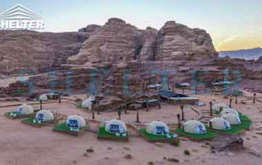 luxury eco resorts-glamping dome tents-Wadi Rum-shelter dome-shelter domos