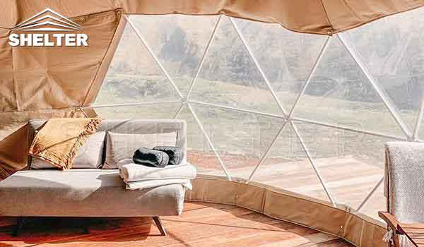 2 person dome tent provides hotel-like comfort-glamping dome-Shelter Dome4