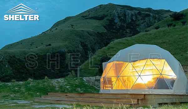 2 person dome tent provides hotel-like comfort-glamping dome-Shelter Dome7