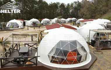 Hotel Domes With Full Facilities Geodesic Dome For Sale-glamping dome-Shelter Dome (3)