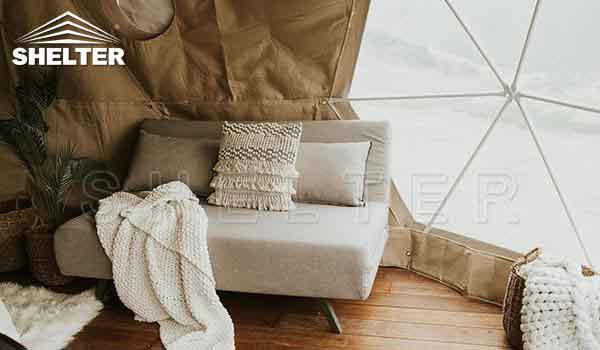 Glamping dome tent provides hotel-like comfort-glamping dome-Shelter Dome